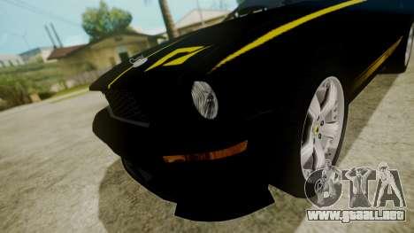 Ford Mustang Shelby Terlingua para GTA San Andreas vista hacia atrás