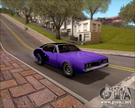 Clover Barracuda para la vista superior GTA San Andreas