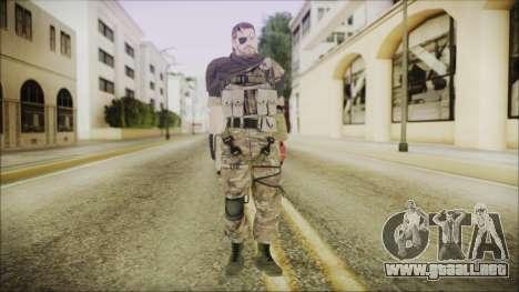 MGSV Phantom Pain Snake Scarf Wetwork para GTA San Andreas segunda pantalla