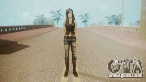 Tifa Black para GTA San Andreas segunda pantalla