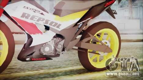 Honda Sonic 150R AntiCacing para la visión correcta GTA San Andreas