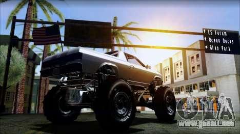 GTA 5 Cheval Marshall para GTA San Andreas vista posterior izquierda