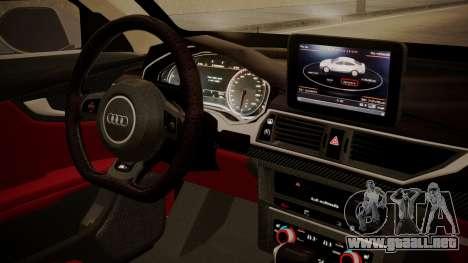 Audi RS7 X-UK L3D para la visión correcta GTA San Andreas