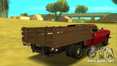 Voodoo El Camino v2 (Truck) para la visión correcta GTA San Andreas