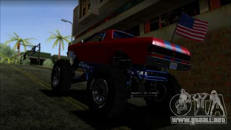 GTA 5 Cheval Marshall IVF para GTA San Andreas vista posterior izquierda