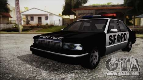 Beta SFPD Cruiser para GTA San Andreas