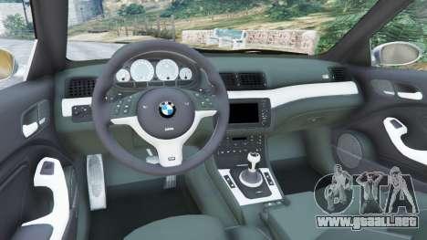GTA 5 BMW M3 (E46) vista lateral trasera derecha