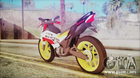 Honda Sonic 150R AntiCacing para GTA San Andreas left