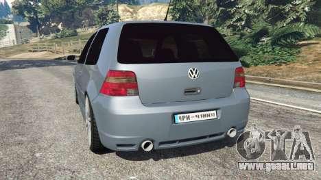 GTA 5 Volkswagen Golf Mk4 R32 vista lateral izquierda trasera