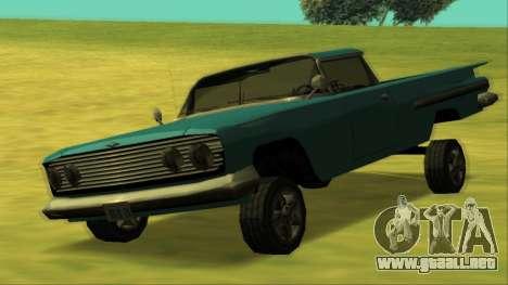 Voodoo El Camino v1 para la vista superior GTA San Andreas