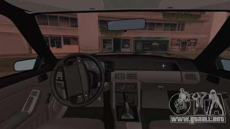 Ford Mustang Hatchback 1991 v1.2 para GTA San Andreas vista posterior izquierda