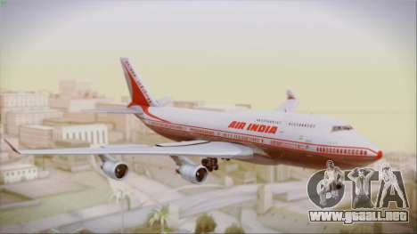 Boeing 747-437 Air India Tanjore New Skin para GTA San Andreas