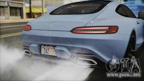 Mercedes-Benz AMG GT 2016 para GTA San Andreas vista hacia atrás