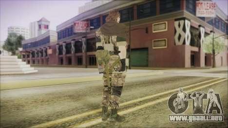 MGSV Phantom Pain Snake Scarf Wetwork para GTA San Andreas tercera pantalla