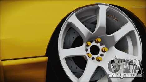 Nissan Onevia Type-X para GTA San Andreas vista posterior izquierda
