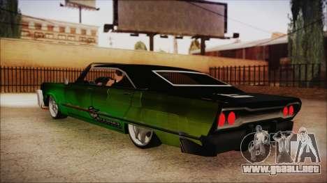 Savanna Ganstar Lowrider para GTA San Andreas left