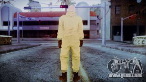 Walter White Breaking Bad Chemsuit para GTA San Andreas tercera pantalla