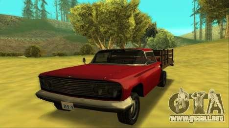 Voodoo El Camino v2 (Truck) para GTA San Andreas left
