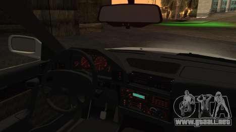 BMW 7-er E32 Stock para GTA San Andreas vista posterior izquierda