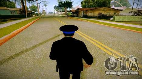 El empleado del Ministerio de Justicia v3 para GTA San Andreas sucesivamente de pantalla