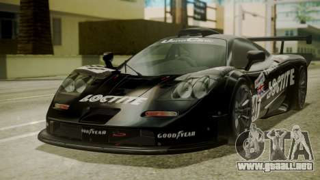 McLaren F1 GTR 1998 Loctite para GTA San Andreas