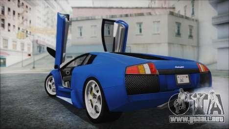 Lamborghini Murcielago 2005 Yuno Gasai HQLM para GTA San Andreas left