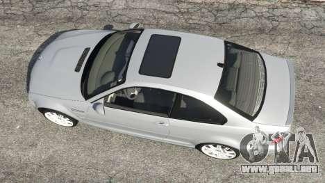 GTA 5 BMW M3 (E46) vista trasera