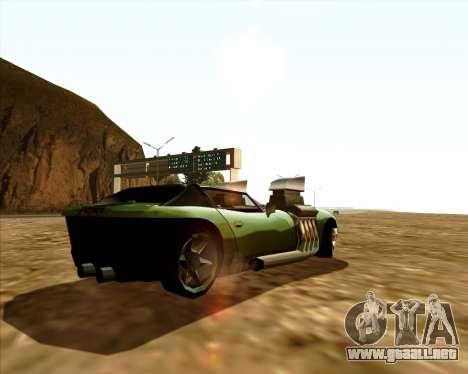 Banshee Twin Mill III Hot Wheels para GTA San Andreas vista posterior izquierda