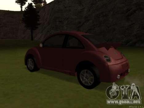 VW New Beetle 2004 Tunable para GTA San Andreas vista posterior izquierda