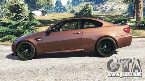 GTA 5 BMW M3 (E92) GTS v0.1 vista lateral izquierda