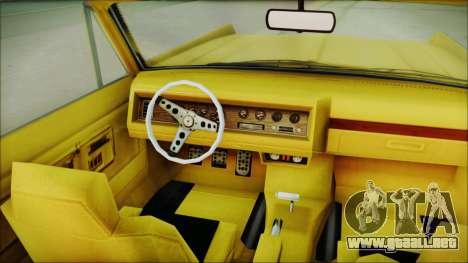 GTA 5 Vapid Chino Bobble Version para la visión correcta GTA San Andreas