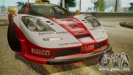 McLaren F1 GTR 1998 Lemans McLaren para visión interna GTA San Andreas