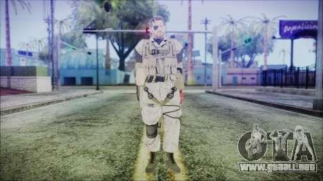 MGSV Phantom Pain Snake Normal Desert para GTA San Andreas segunda pantalla