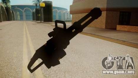 GTA 5 Minigun para GTA San Andreas tercera pantalla