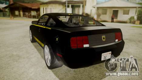 Ford Mustang Shelby Terlingua para GTA San Andreas left