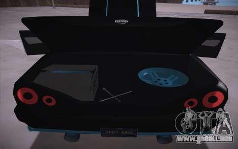 Elegy DRIFT KING GT-1 (Stok wheels) para visión interna GTA San Andreas