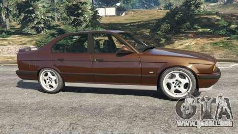 GTA 5 BMW M5 (E34) 1991 v2.0 vista lateral izquierda