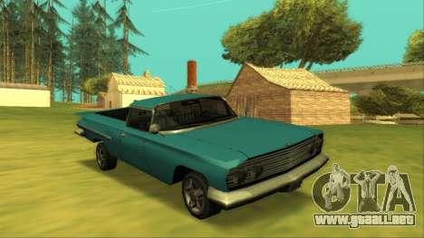 Voodoo El Camino v1 para vista lateral GTA San Andreas