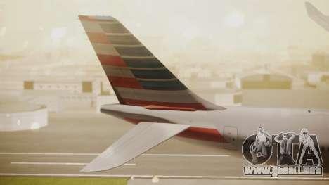 Airbus A330-300 American Airlines para GTA San Andreas vista posterior izquierda