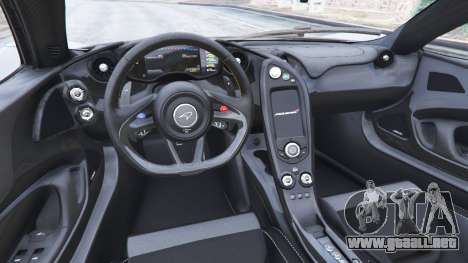 GTA 5 McLaren P1 2014 v1.5 vista lateral trasera derecha