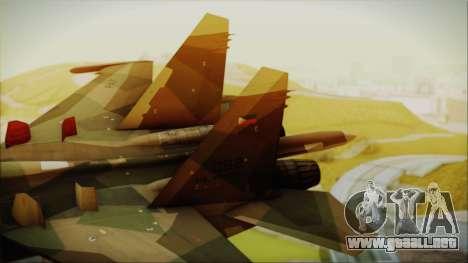 SU-27 Flanker A Philippine Air Force para GTA San Andreas vista posterior izquierda