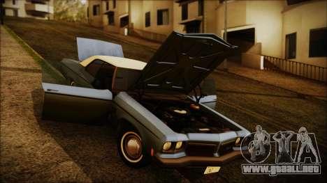Oldsmobile Delta 88 1973 Final para la visión correcta GTA San Andreas