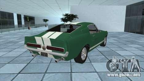 Ford Mustang Shelby GT500 1967 para GTA San Andreas left