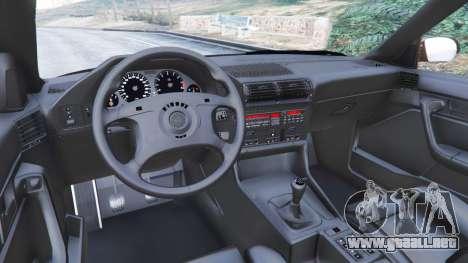 GTA 5 BMW M5 (E34) 1991 v2.0 vista lateral derecha