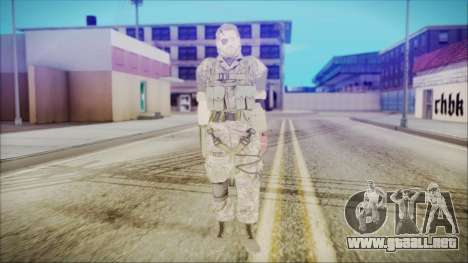 MGSV Phantom Pain Snake Normal Woodland para GTA San Andreas segunda pantalla