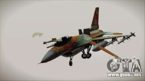 F-16C Block 25 Israeli Air Force para GTA San Andreas