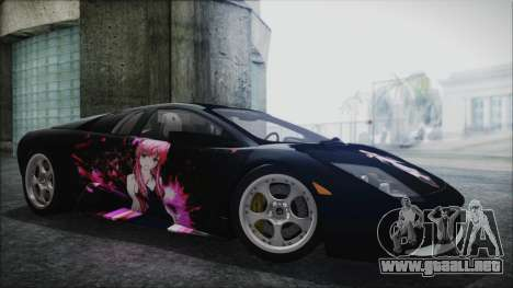 Lamborghini Murcielago 2005 Yuno Gasai HQLM para GTA San Andreas vista hacia atrás