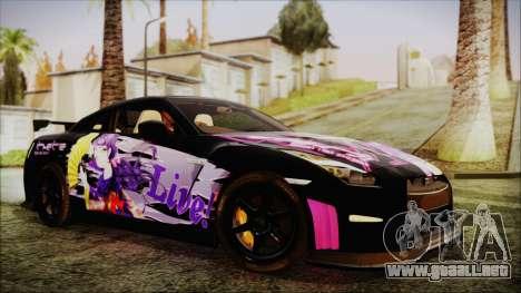Nissan GT-R Nismo 2015 Itasha Paintjobs para la visión correcta GTA San Andreas