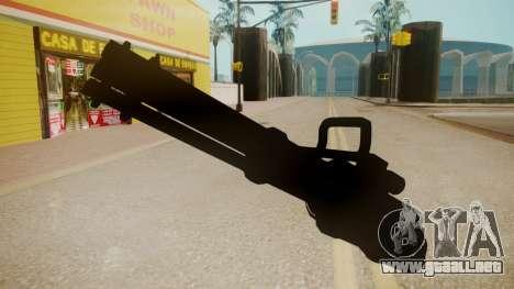 GTA 5 Minigun para GTA San Andreas segunda pantalla