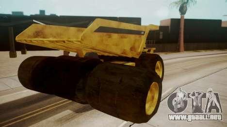 Dump Truck para GTA San Andreas vista posterior izquierda